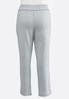Plus Size Gray Wash Fleece Pants alternate view