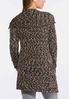 Plus Size Marled Cardigan Sweater alternate view