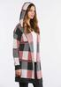 Plus Size Red Plaid Cardigan Sweater alternate view