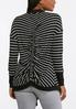 Plus Size Striped Ruched Back Cardigan alternate view