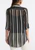 Plus Size Metallic Stripe Top alternate view