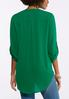 Plus Size Extreme High- Low Popover Top alternate view