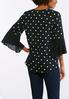 Dotted Bell Sleeve Top alternate view
