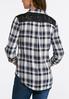 Plus Size Lace Trim Plaid Shirt alternate view