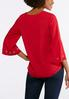 Plus Size Grommet Embellished Bell Sleeve Top alternate view