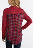 Plus Size Red And Navy Plaid Shirt alternate view