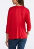 Plus Size Embellished Holiday Top alternate view