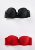 Red And Black Lace Convertible Bra Set alternate view
