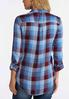 Blue Herringbone Plaid Shirt alternate view