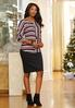 Mixed Stripe High- Low Top alternate view