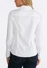 Plus Size Solid Button Down Pleated Shirt alternate view