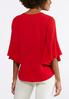 Plus Size Crepe Flutter Sleeve Top alternate view