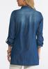 Plus Size Denim Snap Popover Shirt alternate view