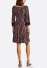 Plus Size Paisley Seamed Lace Trim Dress alternate view