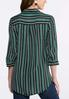 Plus Size Striped Knot Front Top alternate view