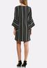 Plus Size Striped Exaggerated Sleeve Dress alternate view