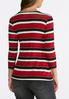 Plus Size Striped Scoop Neck Top alternate view
