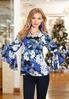 Embellished Blue Floral Top alternate view