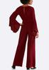 Plus Size Studded Bell Sleeve Jumpsuit alternate view
