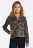 Plus Size Frayed Camo Jacket alternate view
