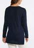Plus Size Seamed High- Low Sweater alternate view