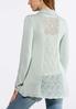 Plus Size Stitch Inset Cardigan Sweater alternate view