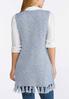 Plus Size Blue Fringe Sweater Vest alternate view
