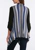 Plus Size Tri- Stitch Sweater Vest alternate view