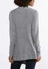Plus Size Gray Draped Cardigan Sweater alternate view