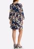 Plus Size Floral Tulip Sleeve Dress alternate view