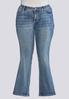 Plus Size Colorful Embellished Pocket Jeans alternate view