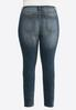Plus Size Crosshatch Skinny Jeans alternate view