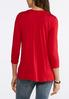 Plus Size Solid Pintucked Top alternate view