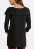 Plus Size Embellished Shawl Neck Sweater alternate view