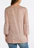 Plus Size Faded Blush Bell Sleeve Top alternate view