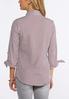 Plus Size Striped Tie Sleeve Shirt alternate view