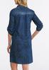 Floral Denim Blue Dress alternate view