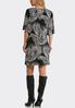 Plus Size Paisley Flare Sleeve Shift Dress alternate view