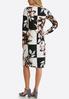 Plus Size Floral Check Print Midi Dress alternate view