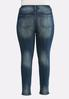 Plus Size Faded Whiskered Jeggings alternate view