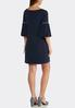 Plus Size Pearl Bubble Sleeve Dress alternate view