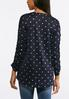 Plus Size Dotted Ruched Sleeve Top alternate view