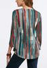 Plus Size Knotted Autumn Stripe Top alternate view
