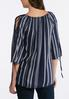Navy Stripe Poet Top alternate view