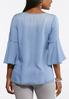 Chambray Tie Bell Sleeve Top alternate view