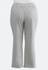 Plus Size Silver Star Fleece Pants alternate view
