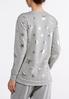 Plus Size Metallic Star Sweatshirt alternate view