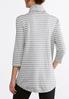 Plus Size Striped Cowl Neck Tunic alternate view