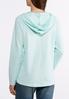 Plus Size Blue Fleece Hooded Sweatshirt alternate view