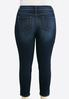 Plus Size Dark Skinny Ankle Jeans alternate view